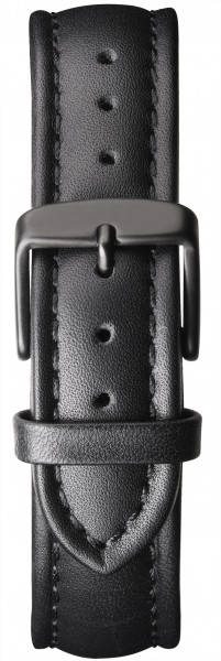 Watch strap leather black